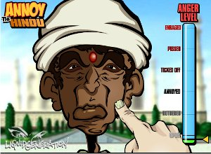 Cartoon of a Hindu Indian man