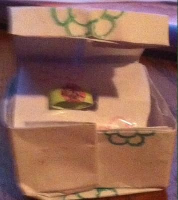 Paper ring in box